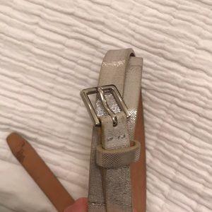 J.Crew Shimmer Skinny Belt